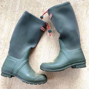 Hunter Drawstring Round-Toe Rain Boots